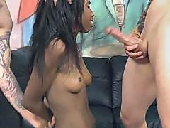 Black Girl Gagging On White Dick During Face Bashing