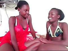 Wow look at these two stunning oiled up black lesbians!