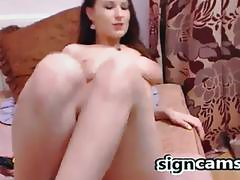 Hot Teen Dildoing and Fingering On Webcam