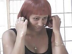 Busty Redhead Ebony Chick Gets D...