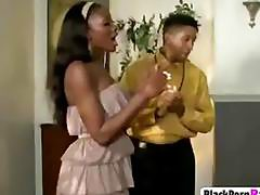 Wild ebony bitch demands deep pussy drilling from lover