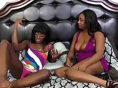 Fine Black Babes Pussy-licking And Scissorring!