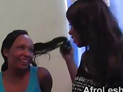 Curious African girls Alisha and Virgin are ready to try lesbian sex
